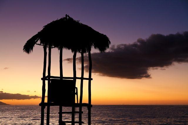 Magicas puestas de sol en el Muelle de Playa Los Muertos