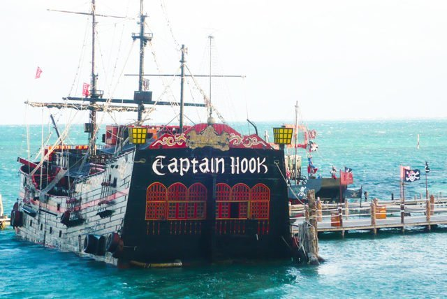 Captain Hook Cancun is Having you for Dinner on a Pirate Ship