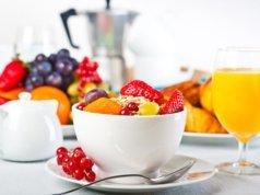 Desayuno a la francesa en Le Jardin, Holbox